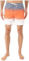 Original Penguin Engineered Stripe Faux Chambray Print Fixed Volley Shorts
