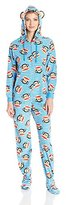 Paul Frank Women's Essentials Hooded Footed Bodysuit