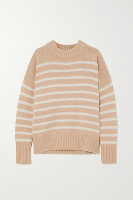 La Ligne Marin Striped Wool And Cashmere-blend Sweater - Sand