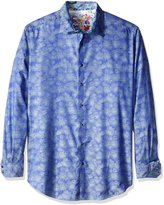 Robert Graham Men's Tall Size Palmdale Long Sleeve Button Down Shirt