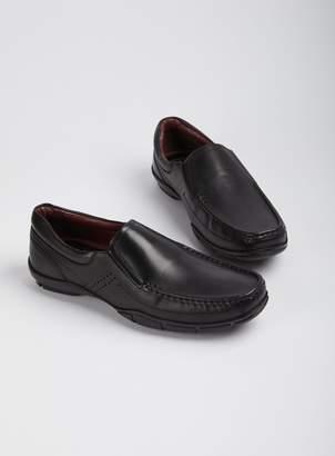 Tu Sole Comfort Black Leather Wallabee Slip On