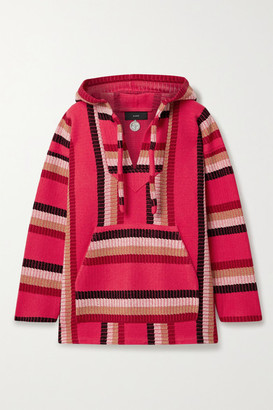 Alanui Baja Hooded Wool And Cashmere-blend Jacquard-knit Sweater - Fuchsia
