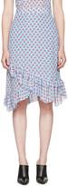 Altuzarra Blue Maxwell Cherry Skirt