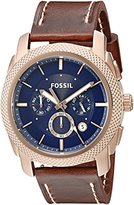 Fossil Men's FS5159 Machine Chronograph Brown Leather Watch