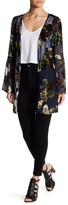 En Creme Velvet Printed Bell Sleeve Kimono