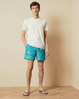 Ted Baker Linear Floral Print Swim Short