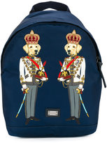 Dolce & Gabbana dog print backpack