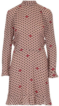 RED Valentino Mouth Print Bow Detailed Dress