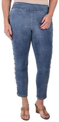 True Blue Lace-Up Ankle Pant