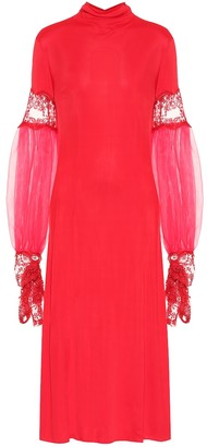 Christopher Kane Lace-trimmed jersey dress