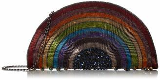 Mary Frances Follow The Rainbow Beaded Crossbody Clutch