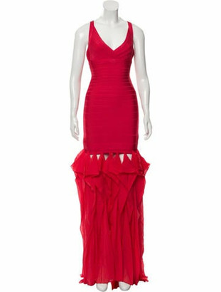 Herve Leger Bandage Maxi Dress w/ Tags Red