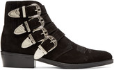 Toga Virilis Black Western Buckle Boots