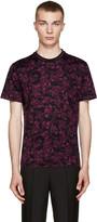 Versace Black & Burgundy Baroque T-Shirt
