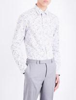 Paul Smith Floral-print Soho-fit cotton-poplin shirt