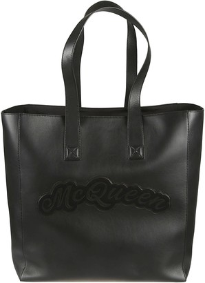 Alexander McQueen Logo Patched Shopper Bag