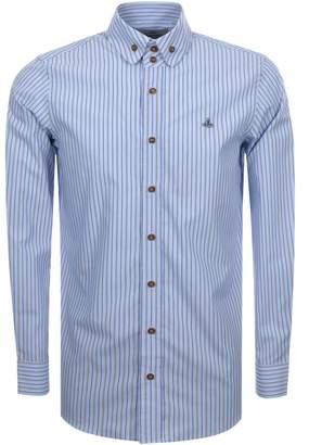 Vivienne Westwood Stripe Krall Shirt Blue