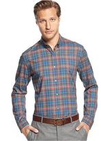 HUGO BOSS Shirt, Long Sleeve Plaid Shirt