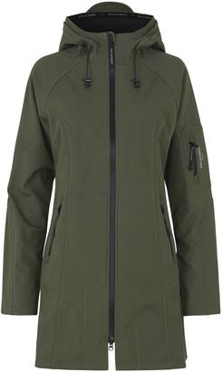Ilse Jacobsen Rain37L Long Raincoat - Army - DK 38 (UK 12)
