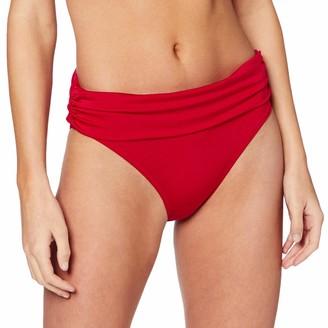 Pour Moi? Women's Azure Fold Over Ruched Brief Bikini Bottoms