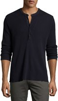 Billy Reid Hudson Ribbed Henley T-Shirt, Navy