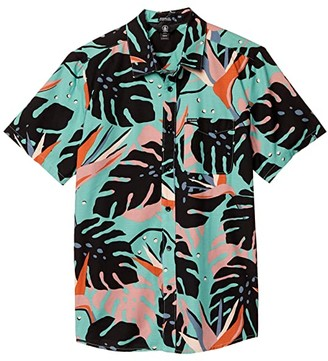 Volcom Mentawais Short Sleeve (Military) Men's Short Sleeve Button Up