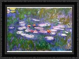 Art-Direct ArtDirect Water Lilies 24x19 Black Ornate Wood Framed Canvas Art by Monet, Claude