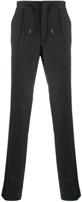 Karl Lagerfeld Paris Houndstooth Drawstring Trousers