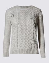 Marks and Spencer Embellished Snowflake Cable Knit Jumper