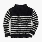 J.Crew Girls' striped mock-neck sweater