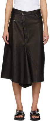 Rika Studios Black Leather Skirt