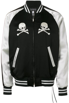 Mastermind World Embroidered Skull Bomber Jacket