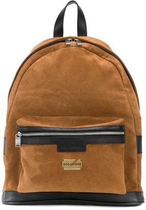 Zadig & Voltaire Jordan contrast-trimmed suede backpack