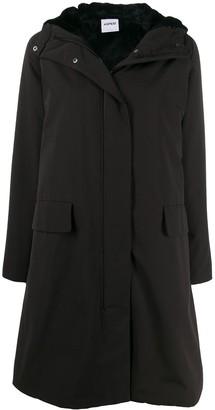 Aspesi Padded Hooded Midi Coat