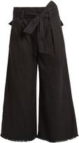 Etoile Isabel Marant Odea wide-leg frayed-hem trousers
