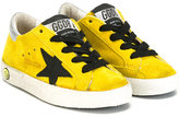Golden Goose Deluxe Brand Kids - star patches sneakers - kids - Cotton/Calf Leather/Leather/rubber - 20