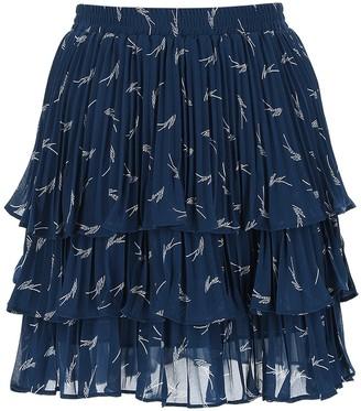 MICHAEL Michael Kors Pleated Tiered Skirt