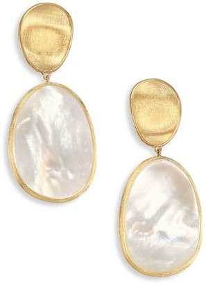 Marco Bicego Lunaria Mother-Of-Pearl & 18K Yellow Gold Long Drop Earrings