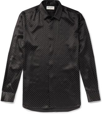 Saint Laurent Studded Silk Shirt