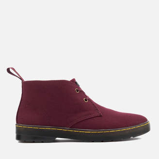 Dr. Martens Men's Mayport Overdyed Twill Canvas Lace Low Boots - Oxblood