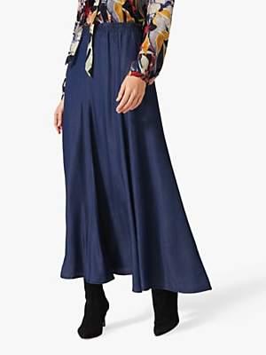 Phase Eight Jane Denim Maxi Skirt, Chambray Blue