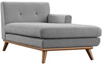 Corrigan Studio Turrell Chaise Lounge Fabric: Azure, Orientation: Right Hand Facing
