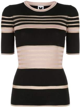 M Missoni striped-knit T-shirts