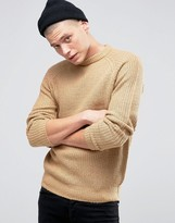 D-struct Chunky Ribbed Crew Neck Jumper