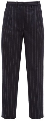 Giuliva Heritage Collection The Cornelia Pinstriped Wool Trousers - Womens - Navy Stripe