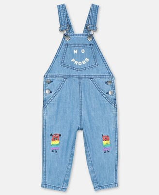 Stella McCartney rainbow monster denim dungarees