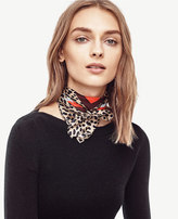 Ann Taylor Spotted Silk Little Scarf
