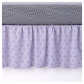 Balboa Baby Cotton Sateen Dust Ruffle - Lavender Trellis
