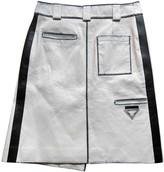 Prada White Leather Skirts