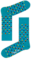 Happy Socks Mini Diamond Socks, One Size, Teal